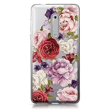 CASEiLIKE® Funda Nokia 5, Carcasa Nokia 5, Rosas mezcladas 2259, TPU Gel Silicone Protectora Cover