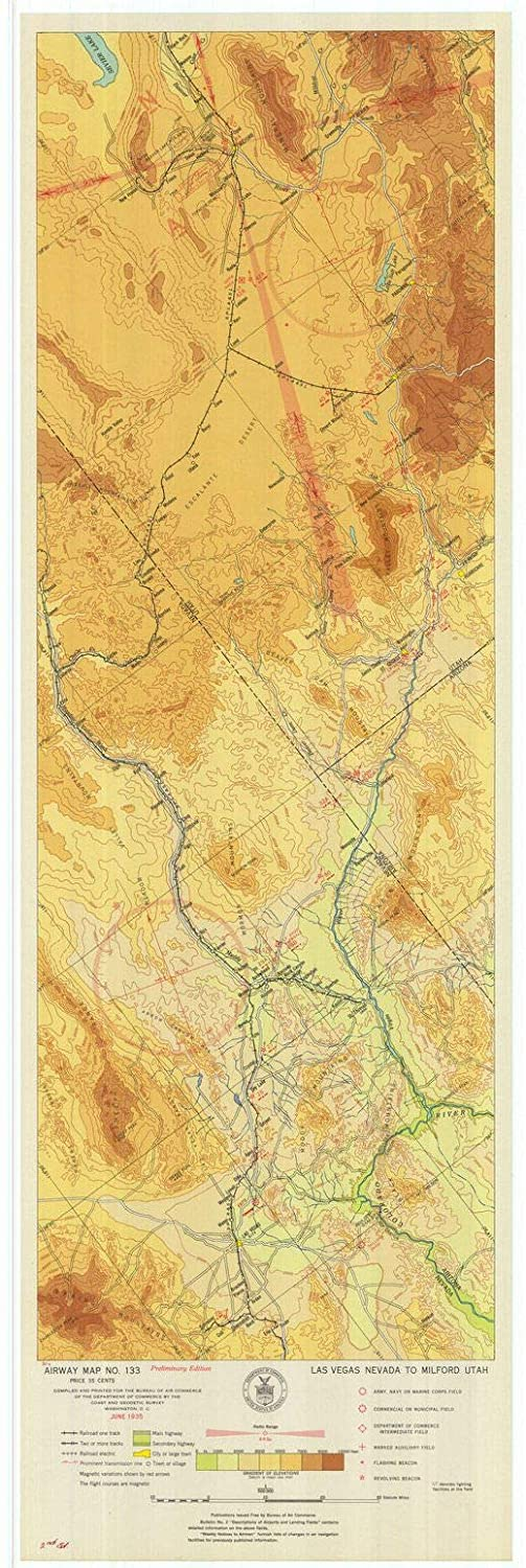 Milford Utah Map.Amazon Com Vintography Professionally Reprinted 18 X 24 Image Of