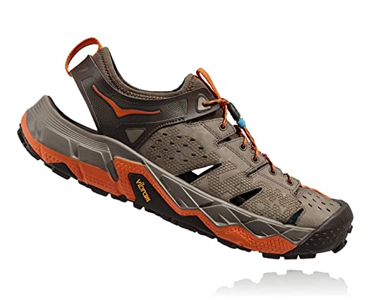 Hoka One One Men's Tor Trafa Hiking Sandal,Brindle/Red Orange,US 9