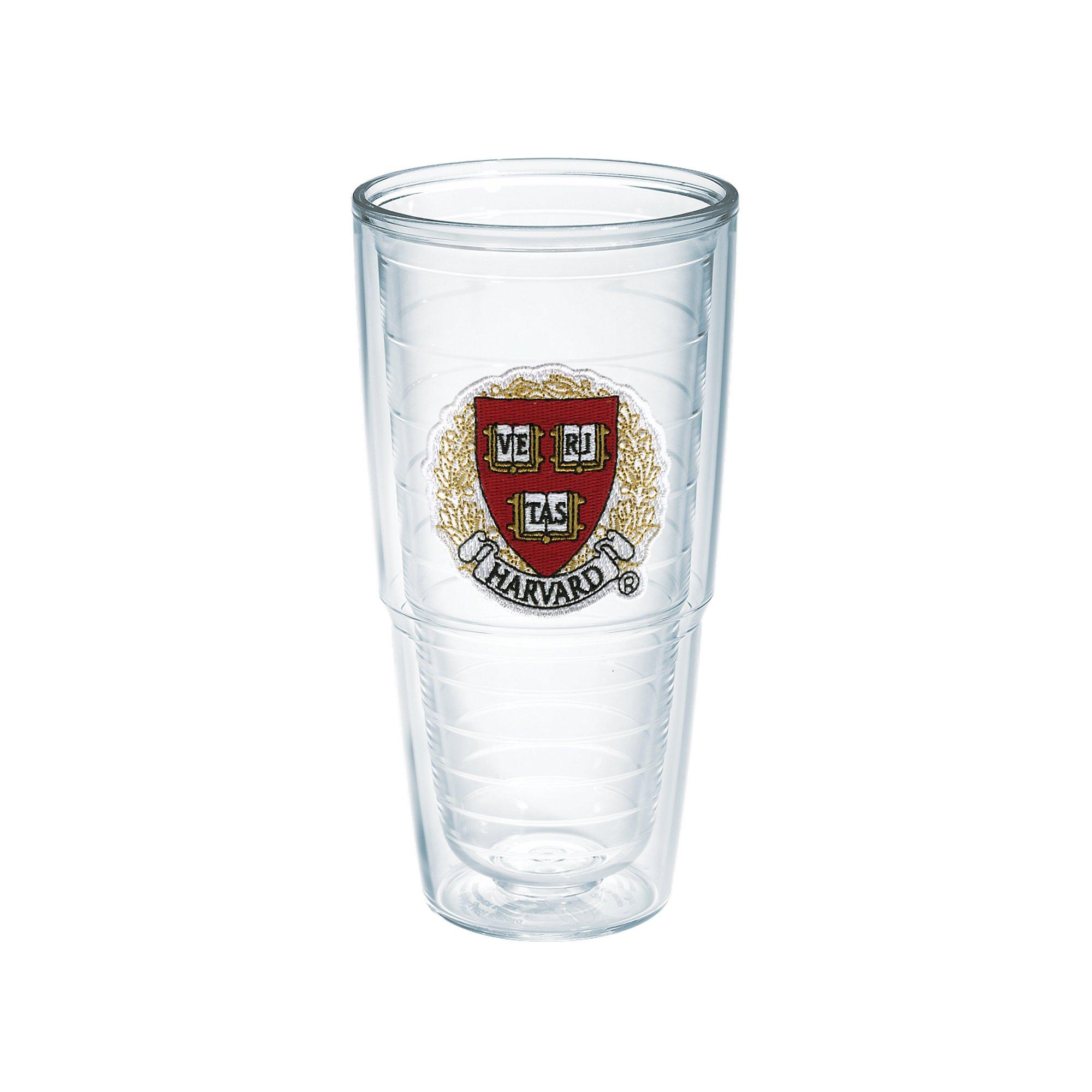 Tervis 1041493 Harvard University Veritas Emblem Individual Tumbler, 24 oz, Clear