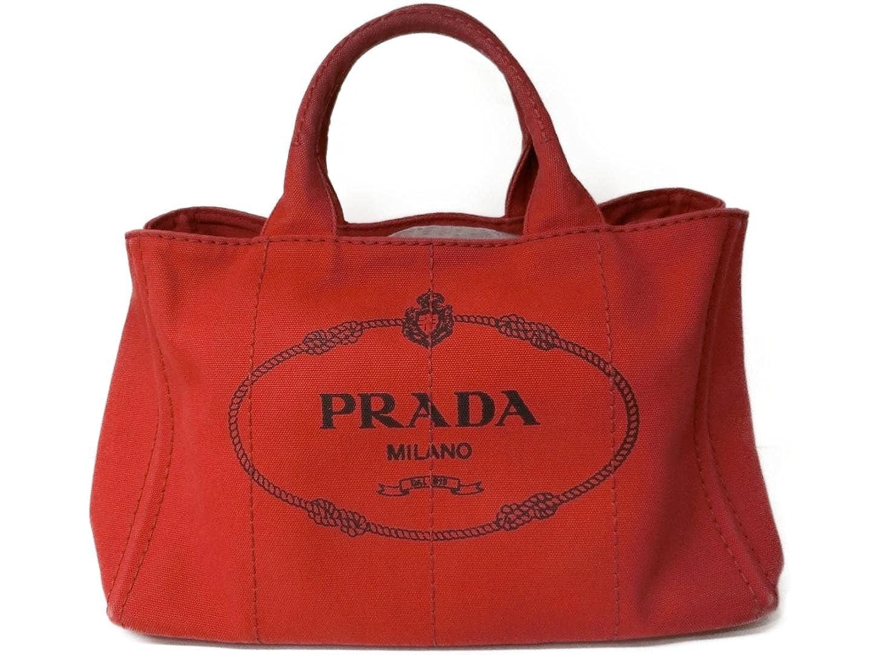 d0aa63538872 Amazon | [プラダ] PRADA カナパ2wayトートバッグ レッド キャンバス 1BG642 [中古] | PRADA(プラダ) | トート バッグ