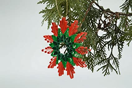 Amazon Com Quilling Christmas Tree Decor Home Kitchen
