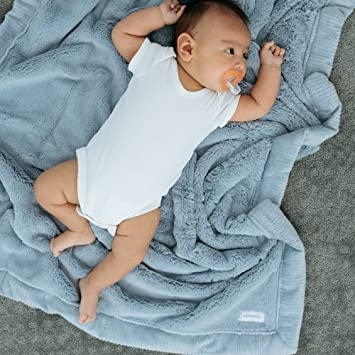 Receiving Blanket 30 x 40 Storm Cloud, Receiving Blanket 30 x 40 102-6262-2 Saranoni Receiving Blankets for Babies Super Soft Boutique Quality Lush Luxury Baby Blanket