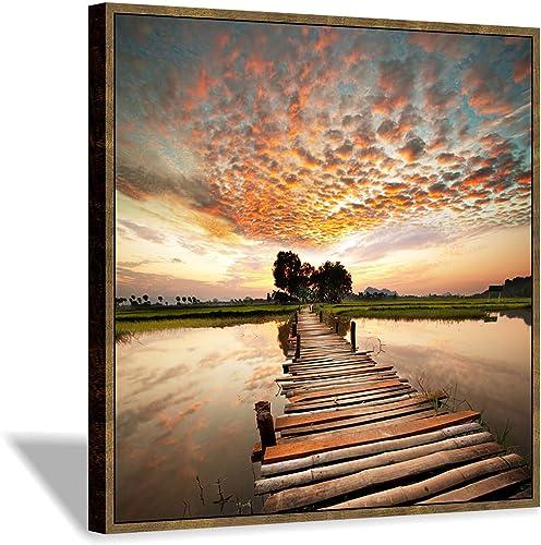 Lake Bridge Canvas Artwork Pictures: Boardwalk