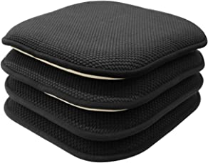 GoodGram 4 Pack Non Slip Honeycomb Premium Comfort Memory Foam Chair Pads/ Cushions - Assorted  sc 1 st  Amazon.com & Shop Amazon.com | Chair Pads