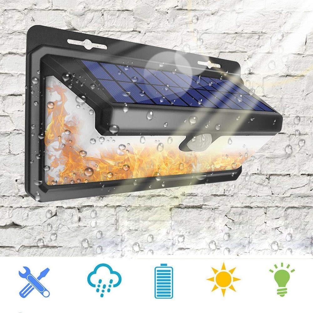 Taihang Lampada da parete a fiamma fiammeggiante emettente luce solare a LED con sensore di movimento PIR 166