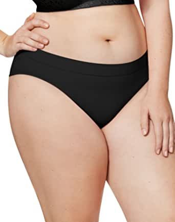 Just My Size Women's Plus Size 5-Pack Ultra Soft Bikini