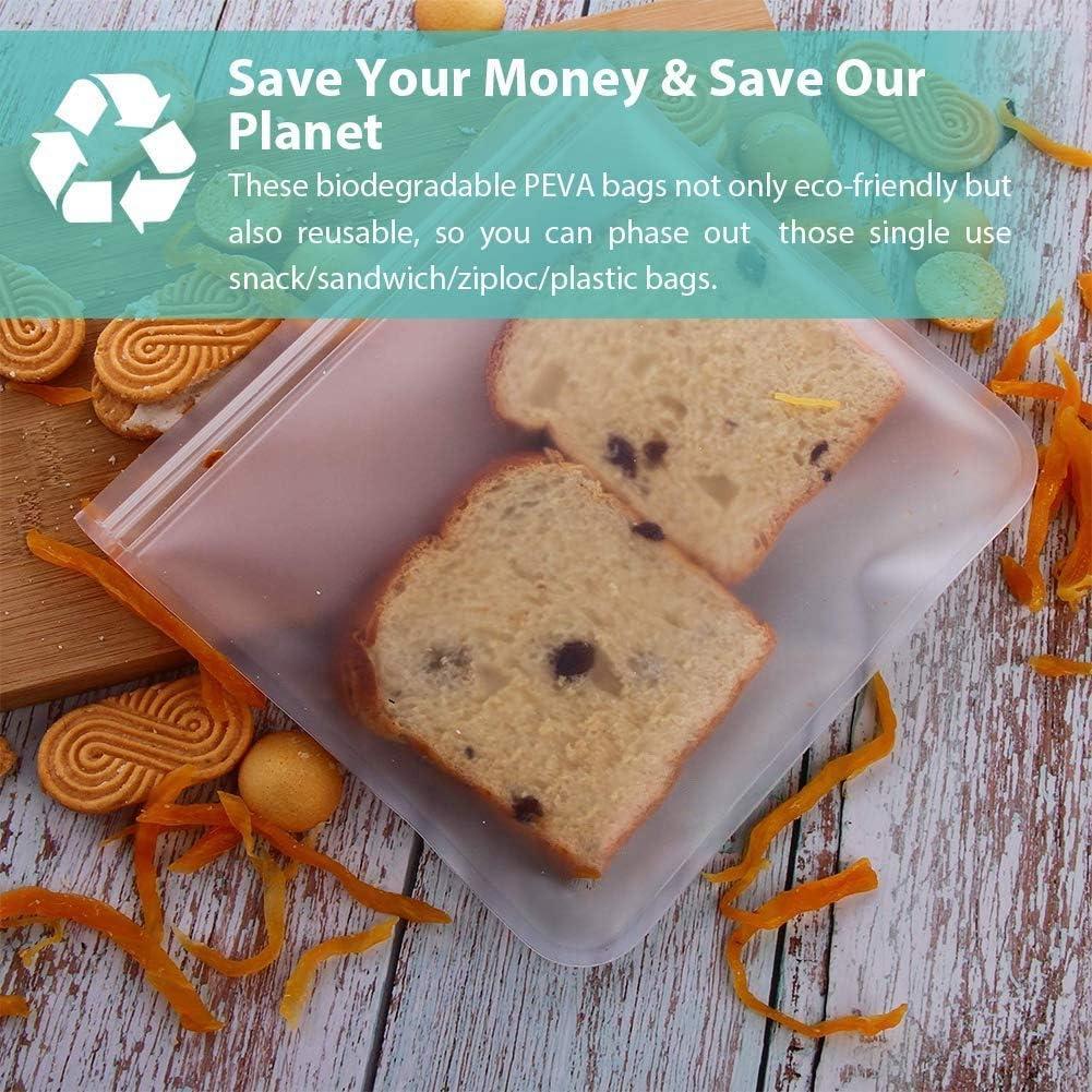 TOOGOO Bolsas de Almacenamiento Reutilizables Biodegradables-(4 de ...