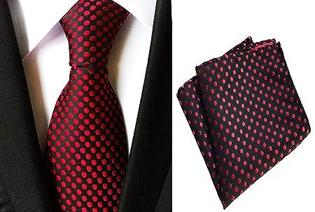 Mon5f Home Pañuelo de Seda con Lunares y Corbata de Bolsillo para ...