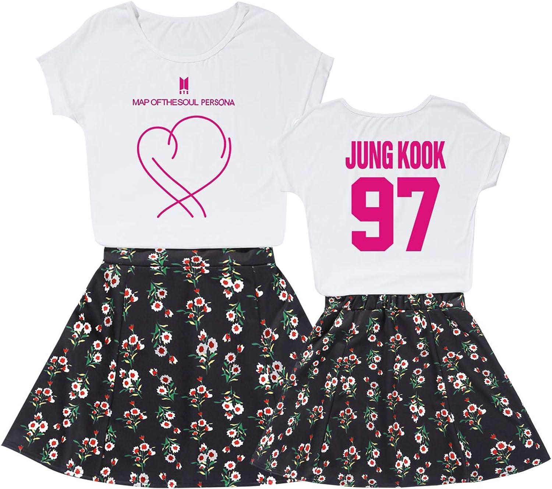 DHSPKN BTS Map of The Soul T-Shirt Jungkook Suga Jimin V Shirt Unisex Tee for Army
