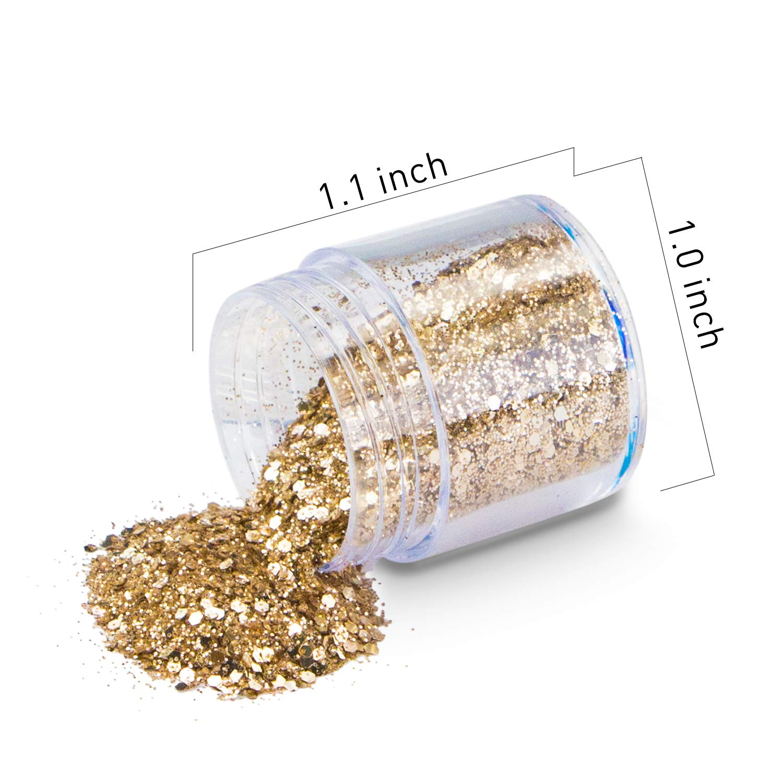 Glitter Cosmetici, 10 Colori Cosmetico Viso e Corpo Glitter, Cosmetici Guance Viso Unghie Glitter Capelli Ombretto Glitter Make-Up Paillette Cosmetico glitter per Christmas, Compleanno, Decorazione del festival