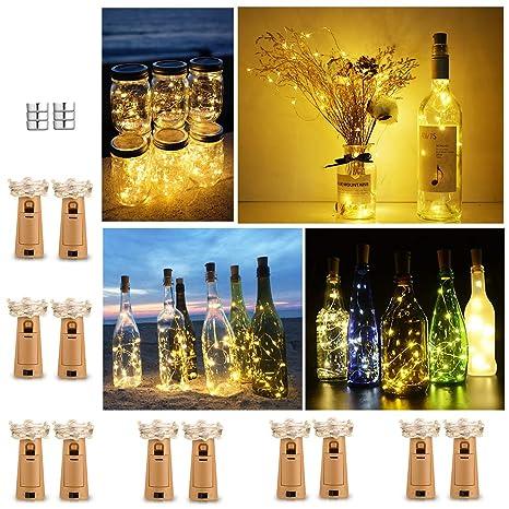 Luz de Botella (12 Pack), 2m 20 LED Lámparas de Botellas con ...