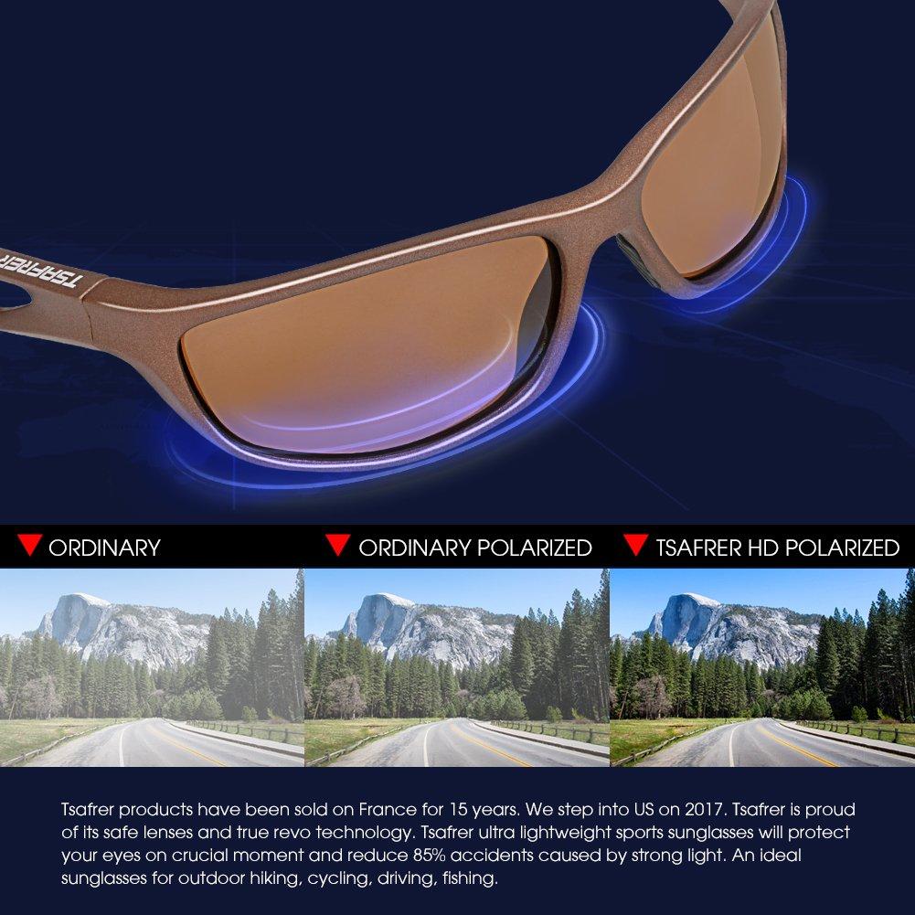 75a268c8ce TSAFRER ciclismo Gafas de sol polarizadas Unisexo, gafas deportivas para  hombres y mujeres, UV400, Tr90 Ligero irrompibles marco: Amazon.es: Deportes  y aire ...