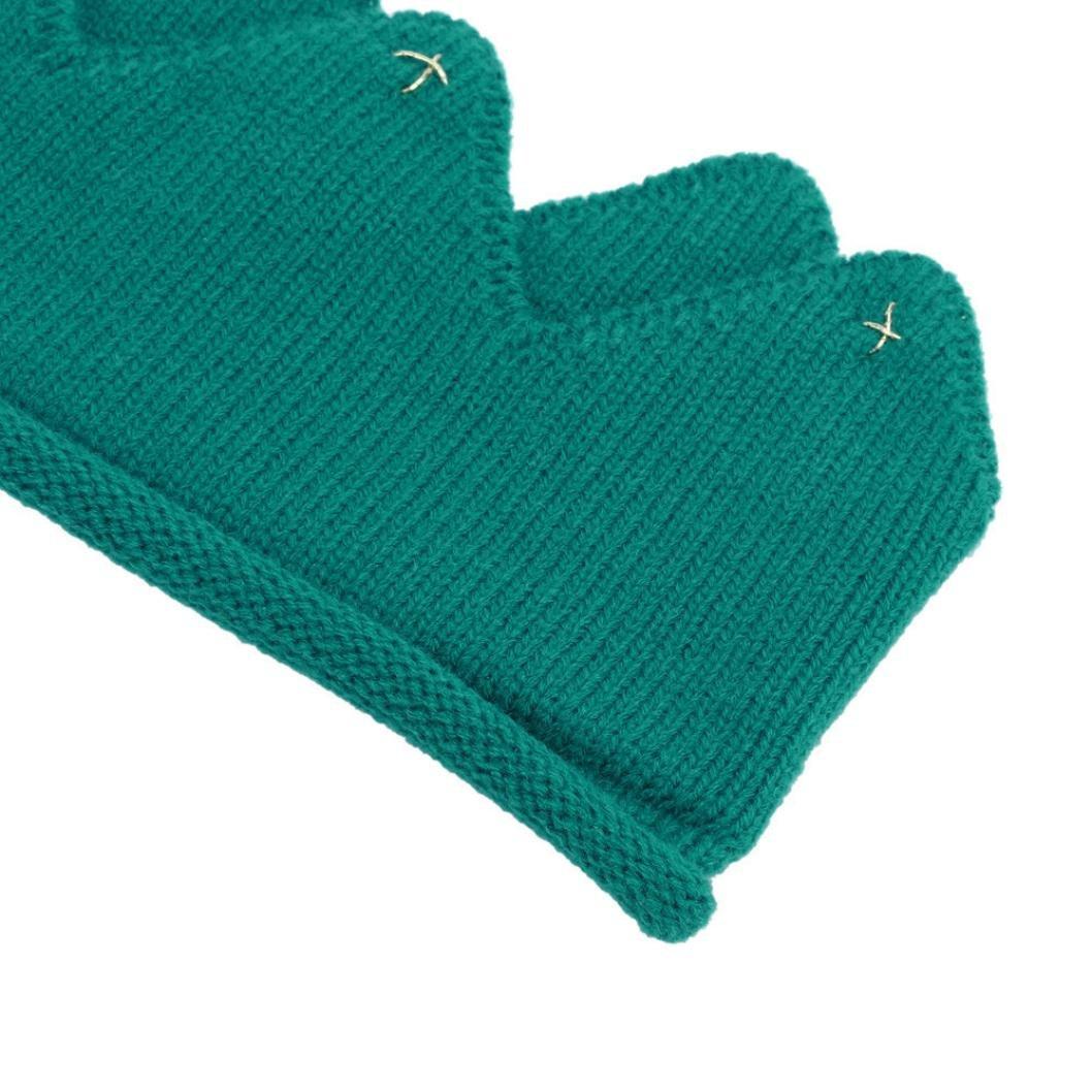 Cappello del bambino feiXIANG Nuovo carino bambino ragazzi ragazze corona maglia cappello Fascia,filato di lana