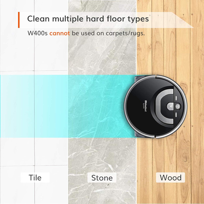 Floor Washing Wet Scrubbing for Hard Floor Zig-Zag Path XL Water Tank ILIFE Shinebot W400s Mop Robot