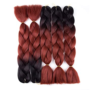 Amazon Com Nayoo 5 Packs Ombre Jumbo Braids Synthetic Braiding