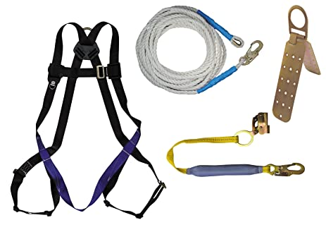 FallTech 7593A FT Basic Harness With Rooferu0027s Kit, Universal Fit