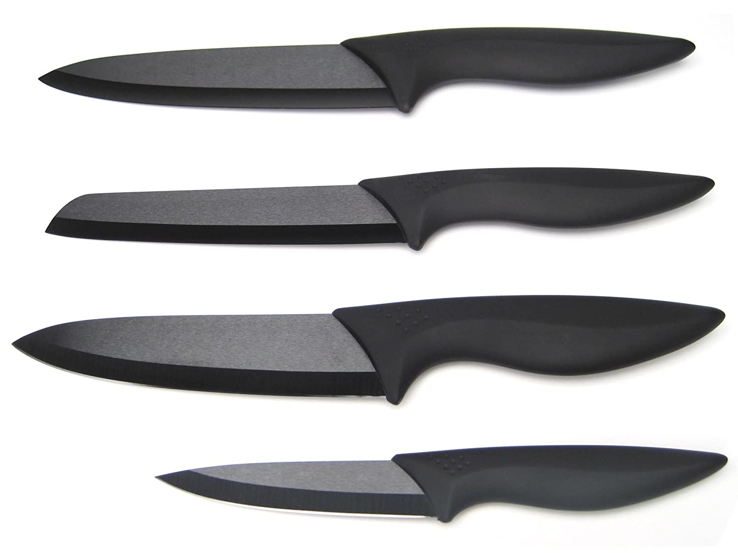 Ceramic Knives with Black Blades, Black Handles - set of 4 (Couteau ...
