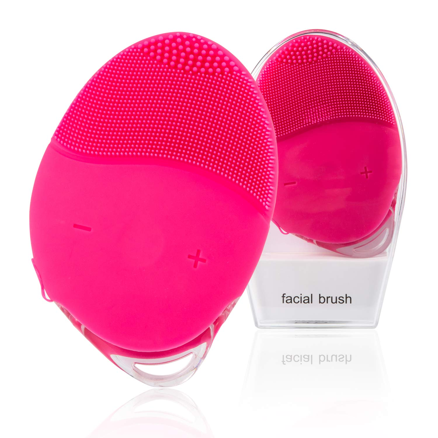 Facial Cleansing Brush, House Envy Sonic Face Brushes, Rechargeable Electric Cleanser Brush Silicone for Deep Cleaning, Removing Blackhead and Massage