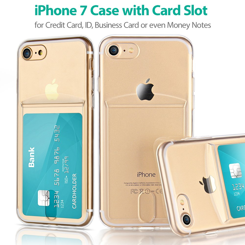 Amazon.com: For iPhone 7 / iPhone 8 Slim Fit Clear TPU Gel ...