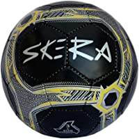 Skera Rookie PVC Football - Size: 3, (Black, Yellow,Silver)