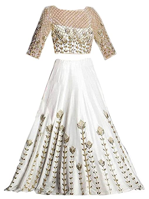 Attingal Textile Girl S Semi Stiched Banglory Silk Lehenga Choli Freesize 7 To 12 Year Age Amazon In Clothing Accessories
