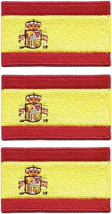 Tanto - Juego de 3 Parches Bordados con la Bandera de España para ...