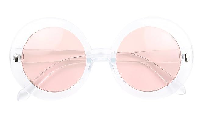 Frame Tinted Oversize Mod Shadyveu Retro Chunky Colored Lens Round Sunglasses HW29IEDY