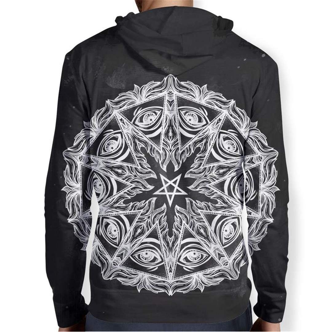 Pentagram M ala Hoodies Men Women Autumn Winter Pullover 3D Hooded Sweatshirt wear Tracksuit at Amazon Mens Clothing store: