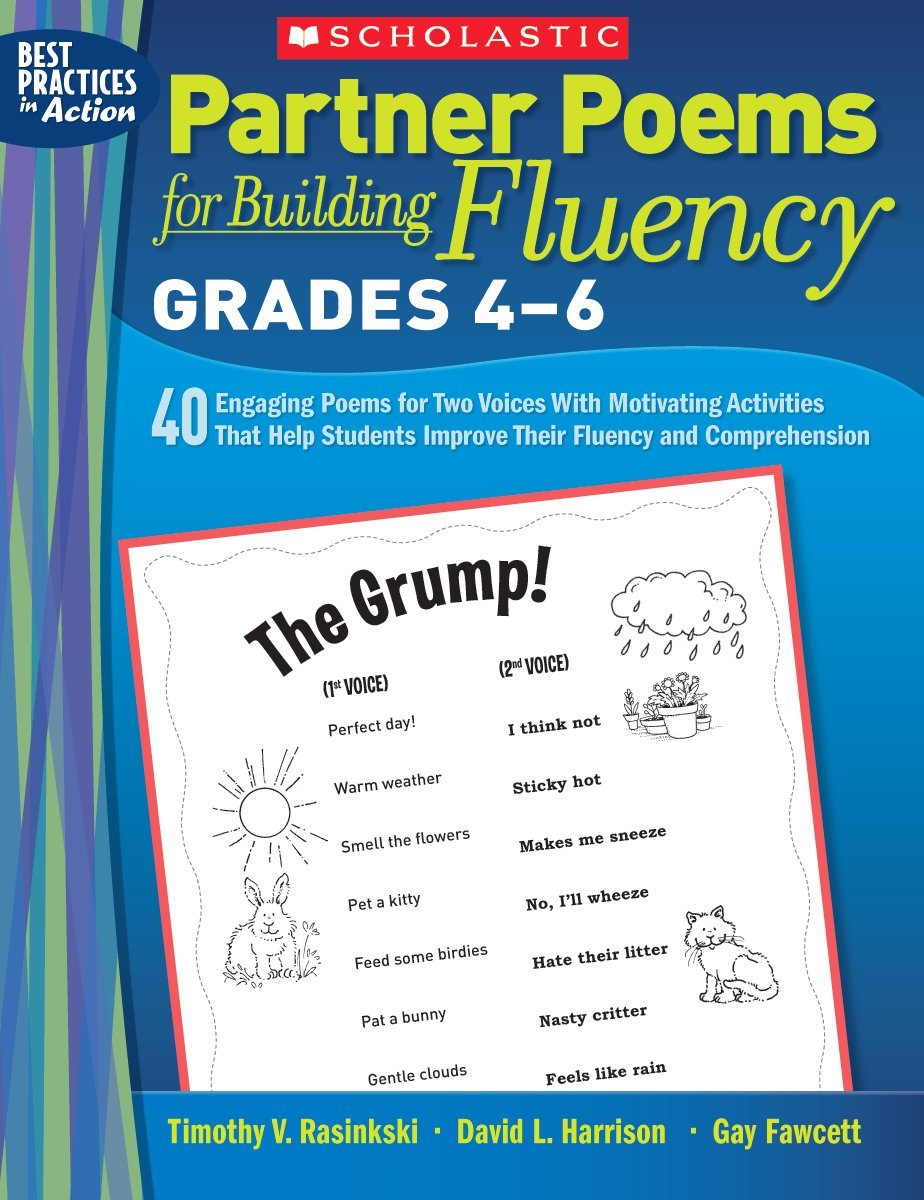 Partner Poems for Building Fluency: Grades 4-6: 40 Engaging Poems for Two Voices With Motivating Activities That Help Students Improve Their Fluency and Comprehension