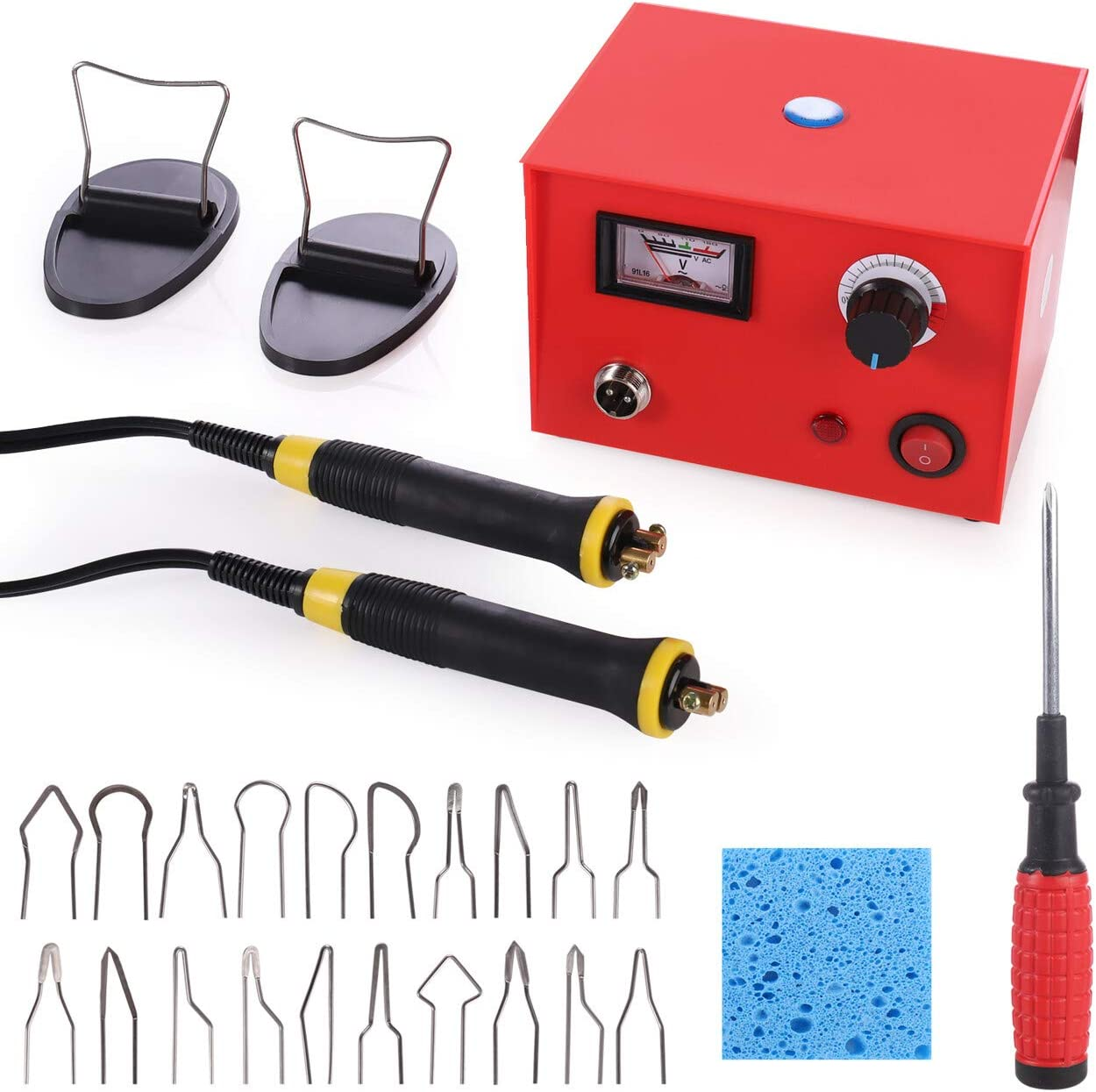 220V 25W Crafts Gourd Wood Multifunction Pyrography Machine Heating Kit Tool
