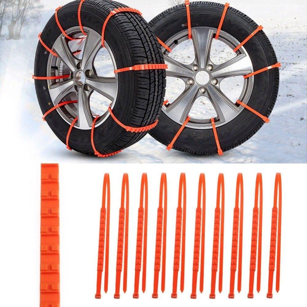 Cables de tracción (10pcs) plástico ruedas neumáticos de invierno - Cadenas de nieve para coches: Amazon.es: Bricolaje y herramientas