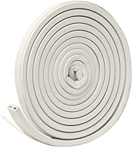 """Frost King V27WA, White EPDM Rubber Self-Stick Weatherseal Tape, D-Section, 9/16"""" W, 5/16"""" T, 10 ft L, 1"""