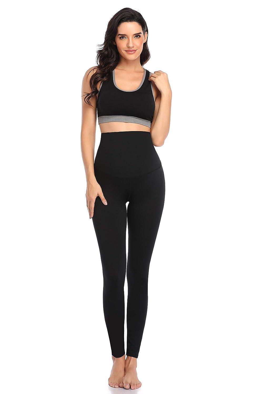 EastElegant Maternity High Waist Active Pants Crossover Panel Pregnancy Yoga Gym Pants Leggings Over Belly