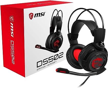 MSI DS502 Binaural Bandeau Noir, Rouge -