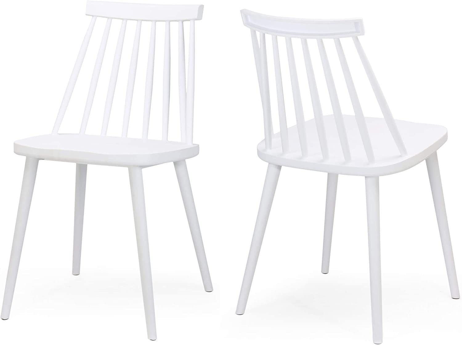 Christopher Knight Home 308095 Phoebe Hume Farmhouse Spindle-Back Dining Chair (Set of 2), White