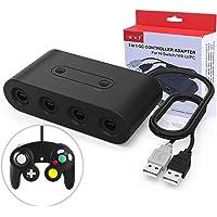 UPA Gamecube Controller Adapter para Nintendo Switch/Wii U/PC, (Versión Mejorada) Adaptador de mandos Gamecube para Wii U y PC con 4 Puertos