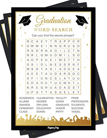 photograph relating to Printable Trunk Party Games titled 2019 Commencement Celebration Phrase Glimpse Sport Playing cards (50 Pack) - Commencement Bash Game titles Options Actions Materials - Grad Party - Large Higher education or College or university