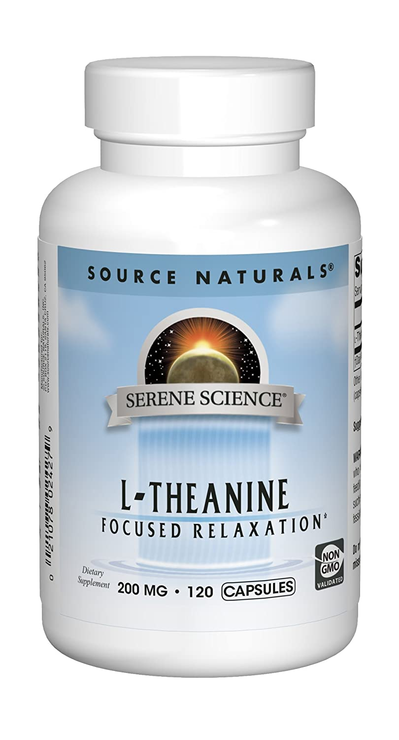 Source Naturals Serene Science L-Theanine 200mg Supplement – 120 Capsules
