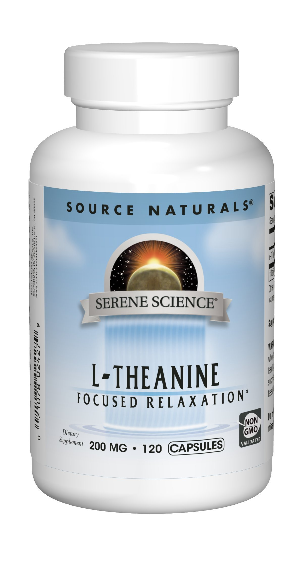 Source Naturals Serene Science L-Theanine 200mg Supplement - 120 Capsules
