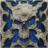 CafePress - Metal Skull - - Tile Coaster, Drink Coaster, Small Trivet