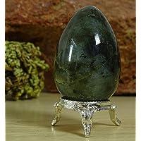Reikiera Cristal Labradorita Huevo Piedra Tallada para La Decoración De Cristales Curativos del Reiki-45-60 mm