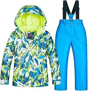 Yocobo Combinaison de Ski isolée Coupe-Vent imperméable, Les garçons de Costume de Ski des Enfants Chauds d'épaississement d'hiver conviennent à l'épreuve du Vent imperméable