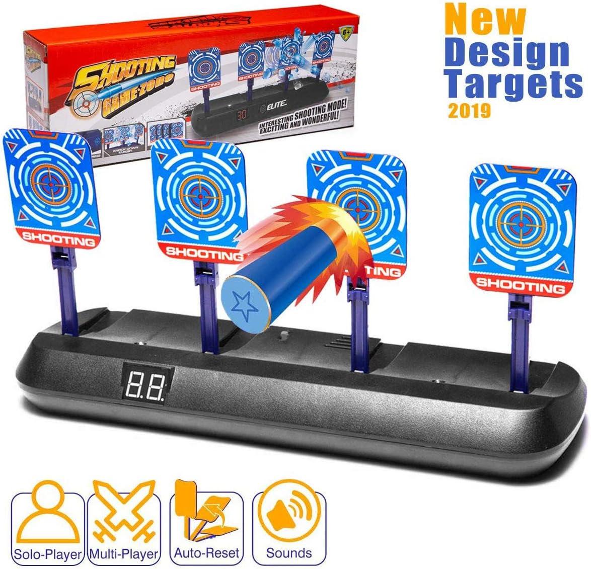 Masstimo Objetivo Digital Electrónico para Pistolas Nerf con Restablecimiento Automático, Efectos Inteligentes de Sonido y Luz para Nerf N-Strike Elite/Mega/Rival Series (Solo Objetivo)