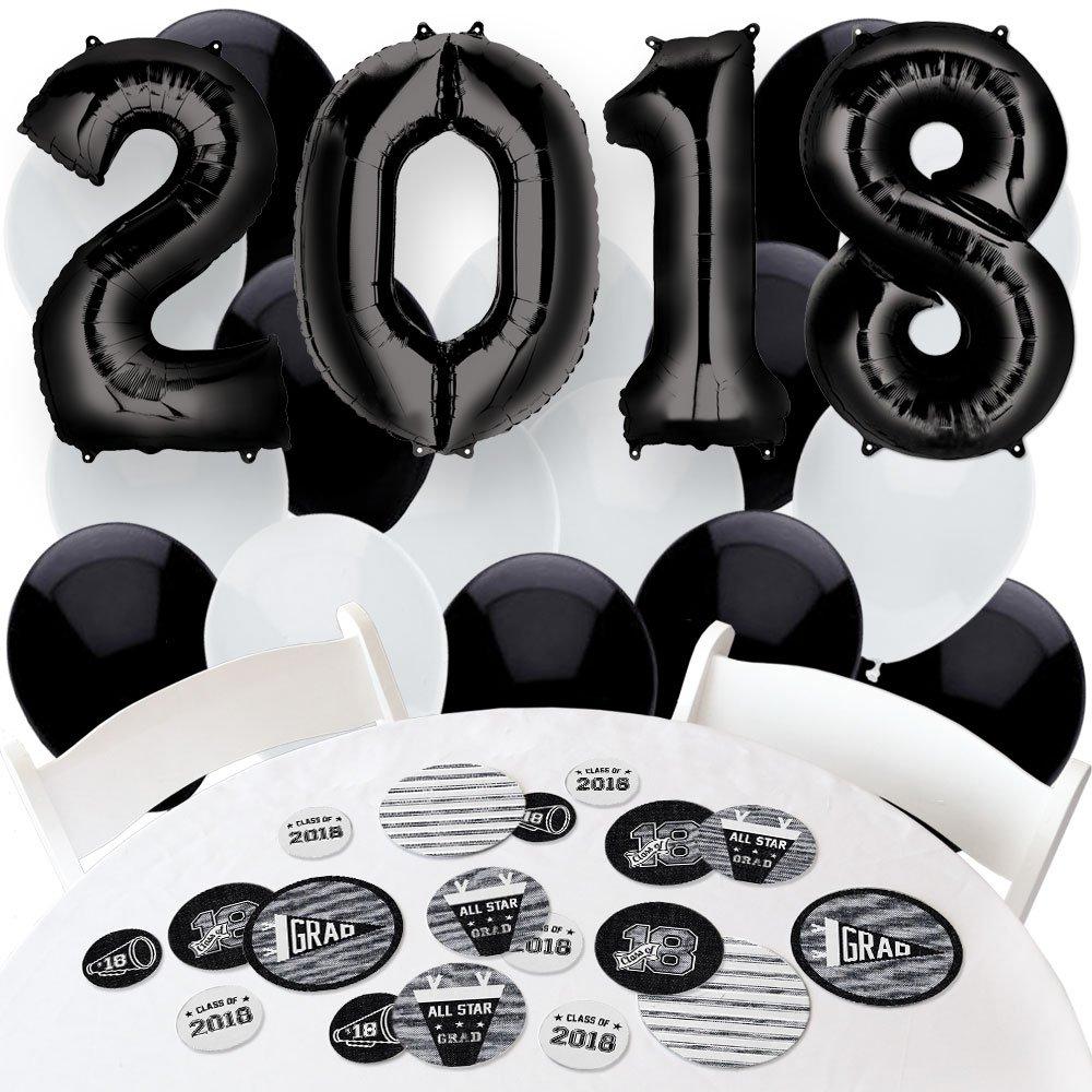 2018 All Star Grad - Confetti and Balloon Graduation Party Decorations - Combo Kit