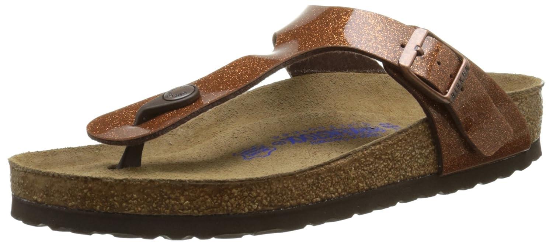 b781246ee Amazon.com | Birkenstock Women's Gizeh Soft Cork Footbed Thong Sandal  Bronze 36 M EU | Sandals