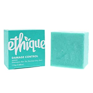 Ethique Eco-Friendly Solid Shampoo Bar for Normal-Dry Hair, Damage Control - Sustainable Natural Shampoo, Plastic Free, 100% Soap Free, Vegan, Plant Based, 100% Compostable and Zero Waste, 3.88oz