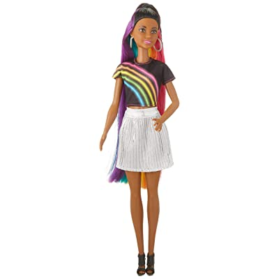 Barbie Rainbow Sparkle Hair Doll Assortment: Toys & Games
