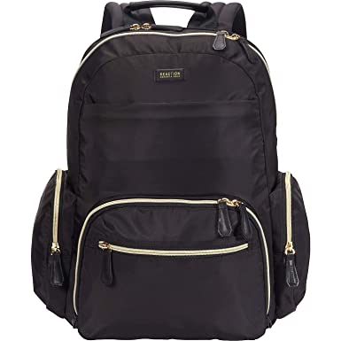 Kenneth Cole Reaction Women s Sophie Silky Nylon 15.6 quot  (RFID) Laptop  Backpack Black One ca5ea0f8cfc2e