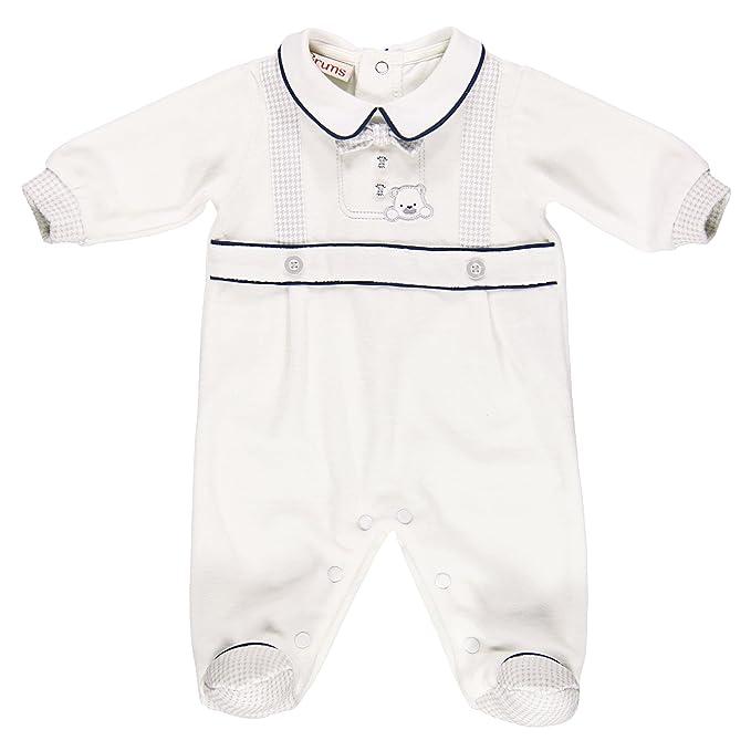 Brums 153Bbfv - Pelele de bebé-niños, Blanco (002 Milk), 6M
